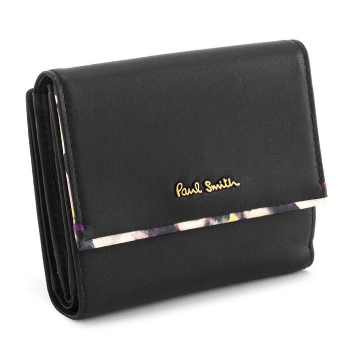 展示品箱なし ポールスミス 財布 二つ折り財布 ブラック Paul Smith pwa363-10 レディース 婦人