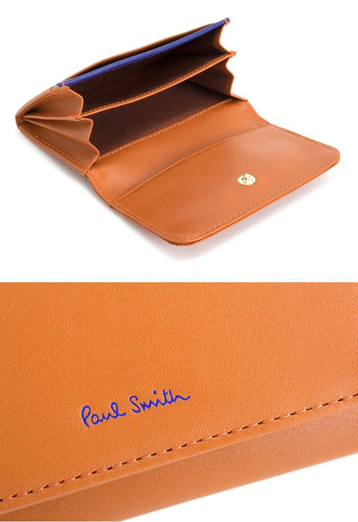 クーポン配布中 展示品箱なし ポールスミス 名刺入れ カードケース オレンジ Paul Smith pwd012 42 レディース 婦人fYb7vmI6gy
