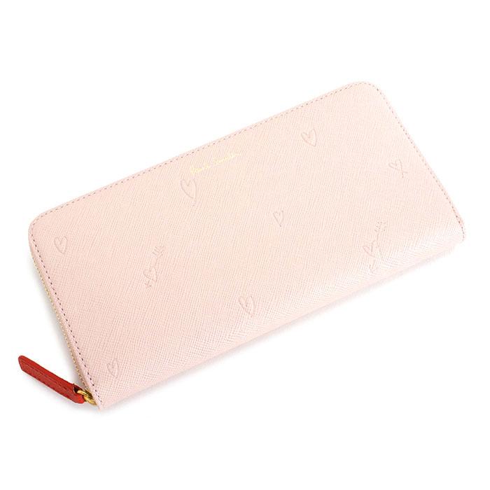 <クーポン配布中>ポールスミス 財布 長財布 ラウンドファスナー ピンク(薄めのピンクです。) Paul Smith pwu804-24 レディース 婦人