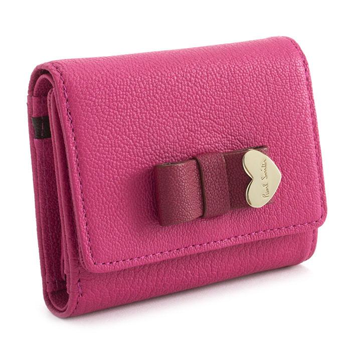 <クーポン配布中>ポールスミス 財布 三つ折り財布 ピンク Paul Smith pwu902-24 レディース 婦人