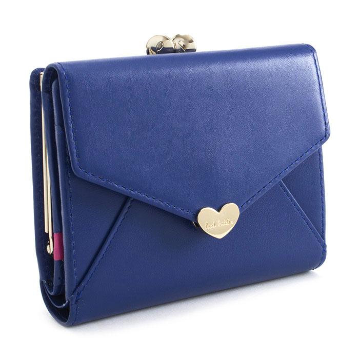 <クーポン配布中>ポールスミス 財布 二つ折り財布 がま口財布 ブルー Paul Smith pwu926-30 レディース 婦人