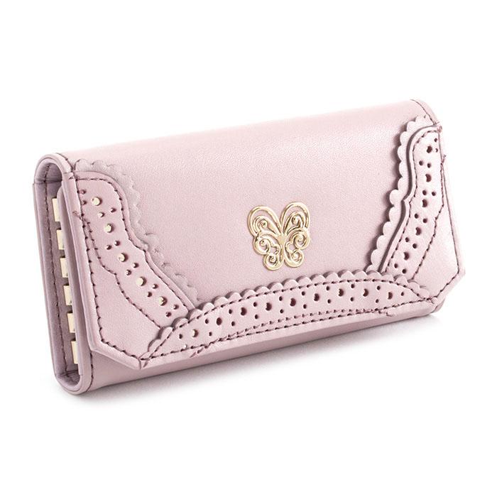 <クーポン配布中>展示品箱なし アナスイ キーケース 薄ピンク系(くすみのあるお色です。) ANNA SUI 311104-33 レディース 婦人
