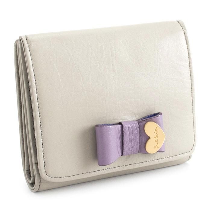 <クーポン配布中>ポールスミス 財布 二つ折り財布(BOX型) ライトグレー Paul Smith pww781-12 レディース 婦人