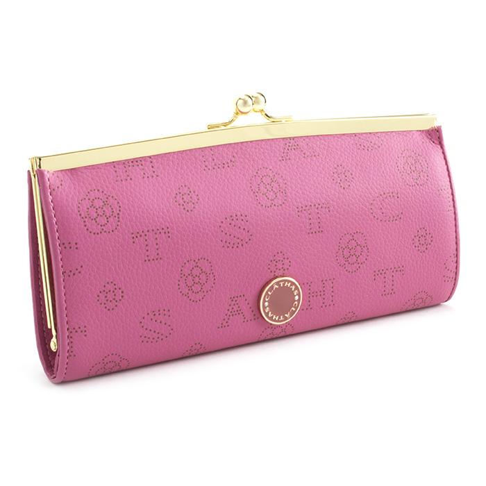 <クーポン配布中>クレイサス 財布 長財布 がま口長財布 ピンク CLATHAS 186881-32 レディース 婦人
