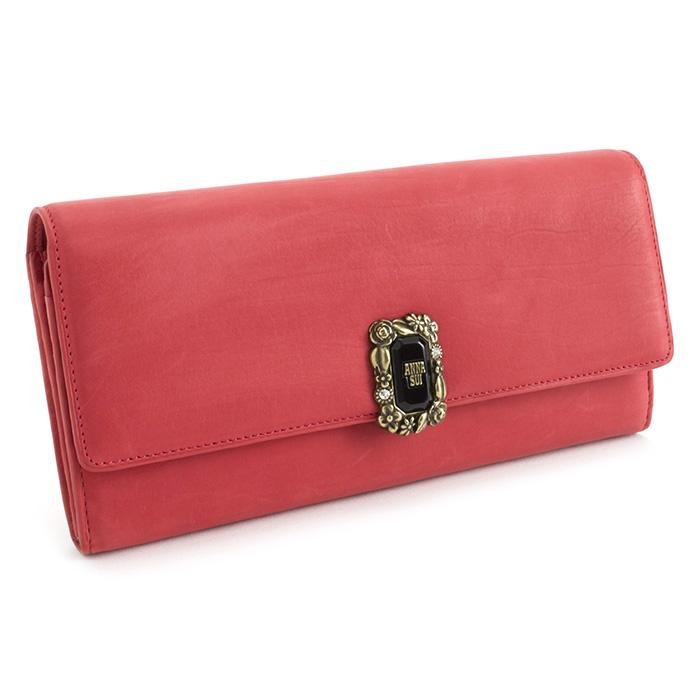 <クーポン配布中>訳あり展示品箱なし アナスイ 財布 長財布 ピンク系(赤がかったピンクです。) ANNA SUI 310291-30 b レディース 婦人