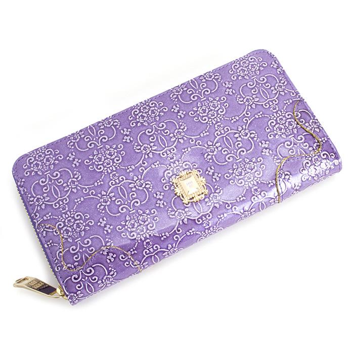 <クーポン配布中>アナスイ 財布 長財布 ラウンドファスナー 紫(パープル) ANNA SUI 310490-90 レディース 婦人