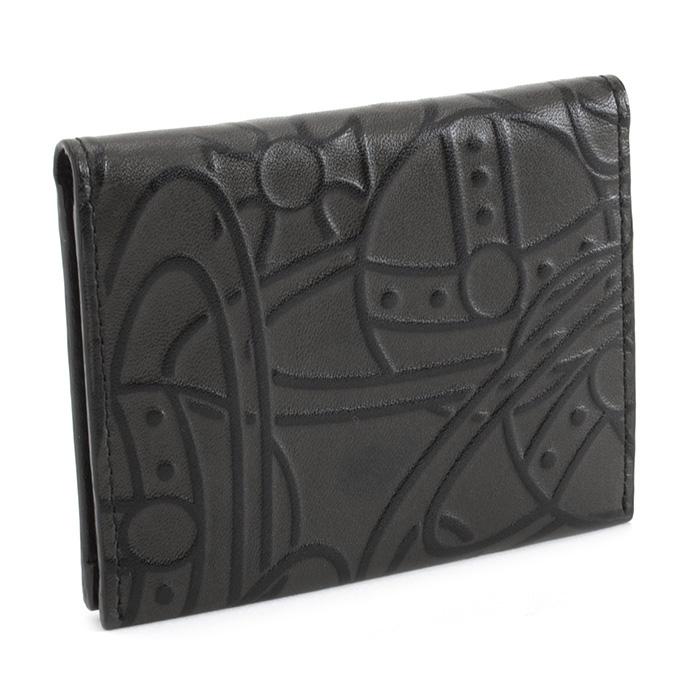展示品箱なし ヴィヴィアンウエストウッド 定期入れ パスケース 黒(ブラック) Vivienne Westwood ACCESSORIES 3618k361