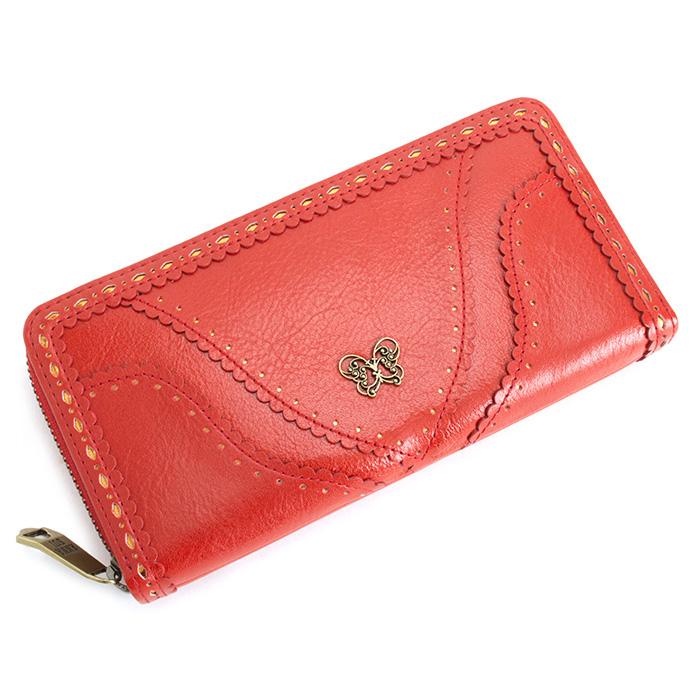 展示品箱なし アナスイ 財布 長財布 ラウンドファスナー 赤(レッド) ANNA SUI 312351-30 b レディース 婦人