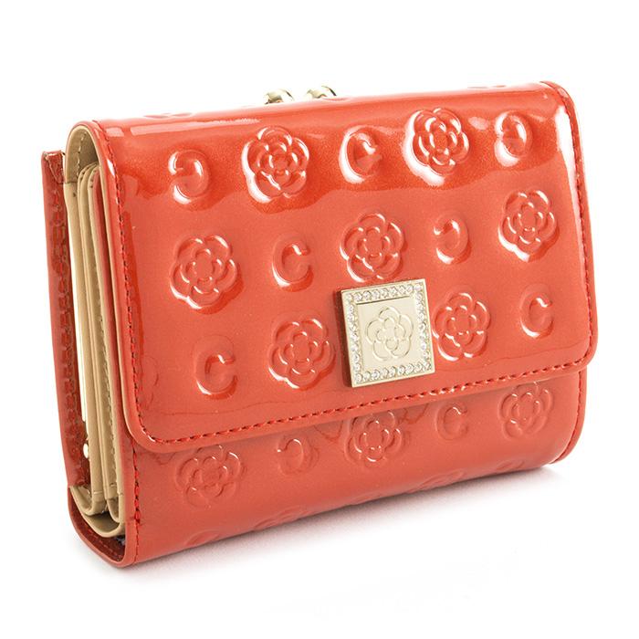 <クーポン配布中>展示品箱なし クレイサス 財布 二つ折り財布 がま口財布 赤(レッド) CLATHAS 184262-31 レディース 婦人