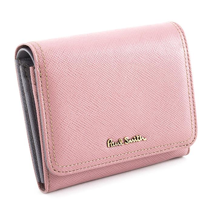 <クーポン配布中>ポールスミス 財布 二つ折り財布 ピンク Paul Smith pww802-24 レディース 婦人
