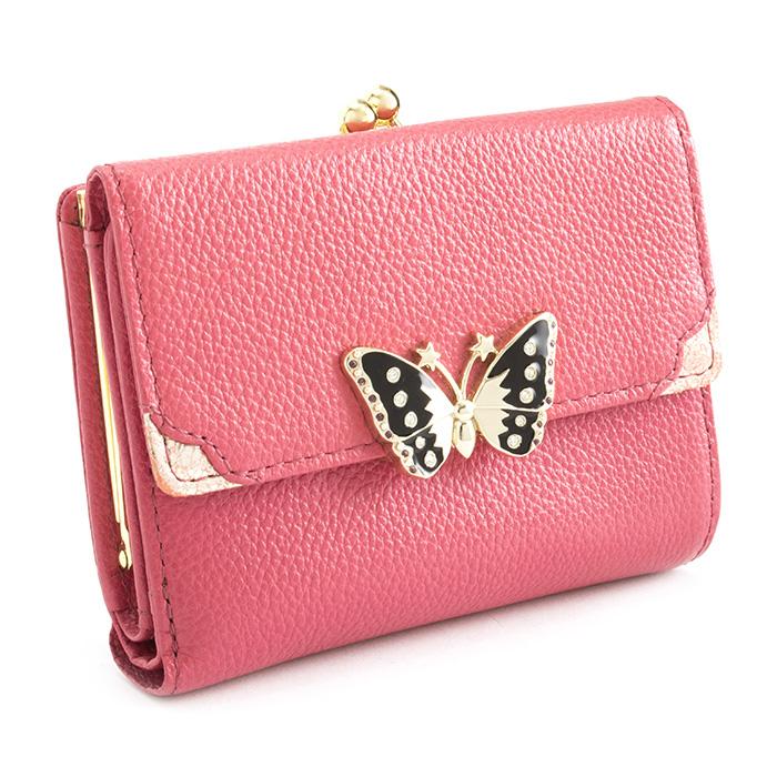 <クーポン配布中>アナスイ 財布 二つ折り財布 がま口財布 ピンク ANNA SUI 312572-32 レディース 婦人