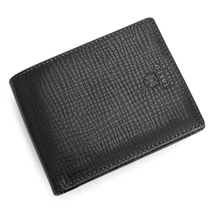 <クーポン配布中>タケオキクチ 財布 二つ折り財布 黒(ブラック) TAKEOKIKUCHI 727613 メンズ 紳士
