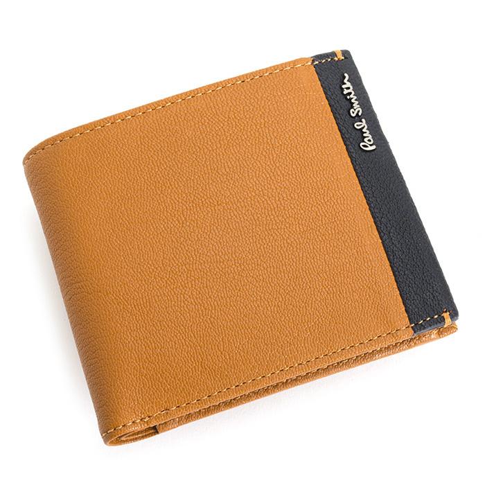 <クーポン配布中>展示品箱なし ポールスミス 財布 二つ折り財布 オレンジ Paul Smith psu850-42 ブランド メンズ 紳士