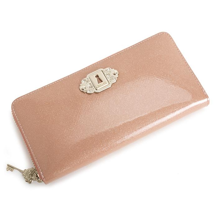 訳あり展示品箱なし アナスイ 財布 長財布 ラウンドファスナー ピンク ANNA SUI 312720-32 b レディース 婦人