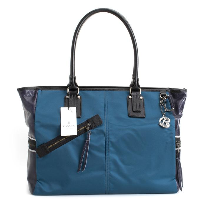 <クーポン配布中>ランバンオンブルー バッグ トートバッグ 青(ブルー。少し緑がかったブルーです。) LANVIN en Bleu 560501 メンズ 紳士