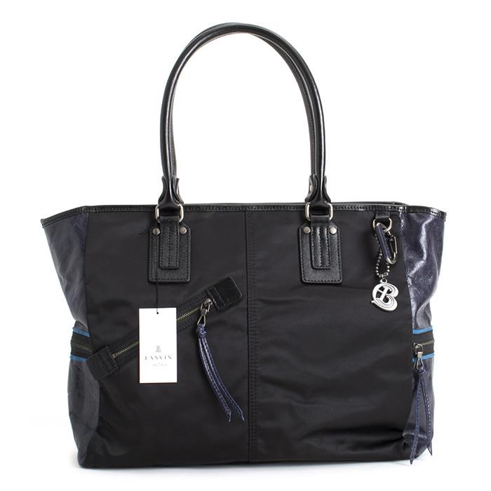 <クーポン配布中>ランバンオンブルー バッグ トートバッグ 黒(ブラック) LANVIN en Bleu 560501 メンズ 紳士