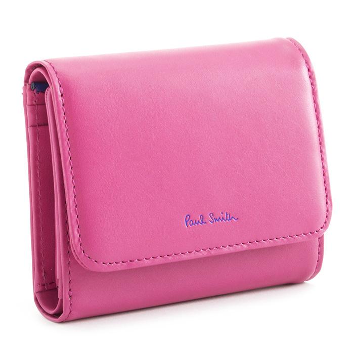 <クーポン配布中>ポールスミス 財布 三つ折り財布 ピンク Paul Smith pwd014-24 レディース 婦人