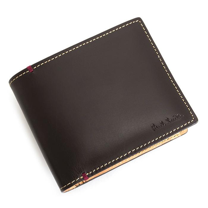 <クーポン配布中>ポールスミス 財布 二つ折り財布 茶(ブラウン) Paul Smith psu875-70 メンズ 紳士