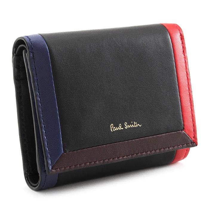 <クーポン配布中>ポールスミス 財布 三つ折り財布 黒(ブラック) Paul Smith pwd224-10 レディース 婦人