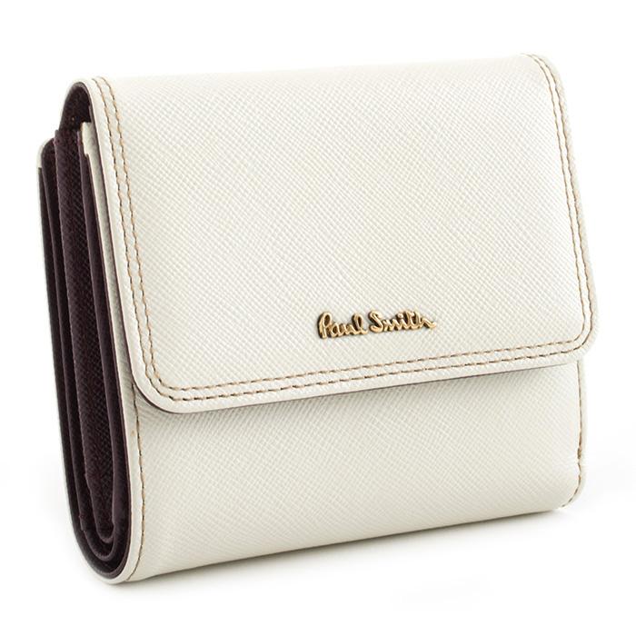 <クーポン配布中>展示品箱なし ポールスミス 財布 二つ折り財布 白(ホワイト) Paul Smith pww803-60 レディース 婦人