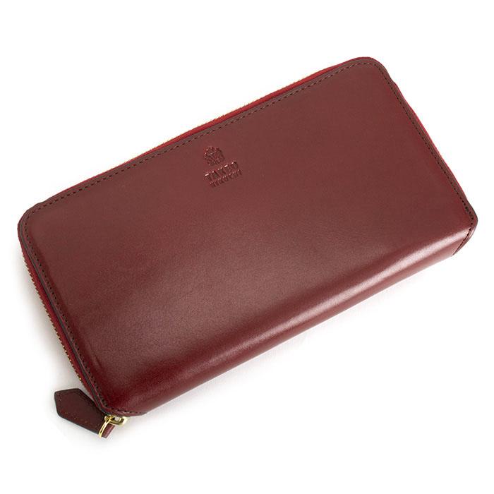 <クーポン配布中>タケオキクチ 財布 長財布 パスケース付 コインケース付 小銭入れ付 ラウンドファスナ- 赤(レッド) TAKEOKIKUCHI 730603 b メンズ 紳士