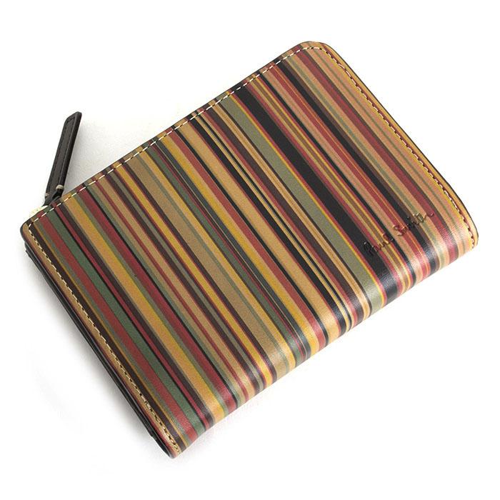 <クーポン配布中>ポールスミス 財布 二つ折り財布 L字ファスナー マルチ Paul Smith psy360-70 メンズ 紳士