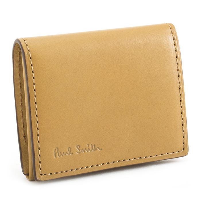 <クーポン配布中>ポールスミス 財布 小銭入れ コインケース キャメル Paul Smith psy900-75 メンズ 紳士