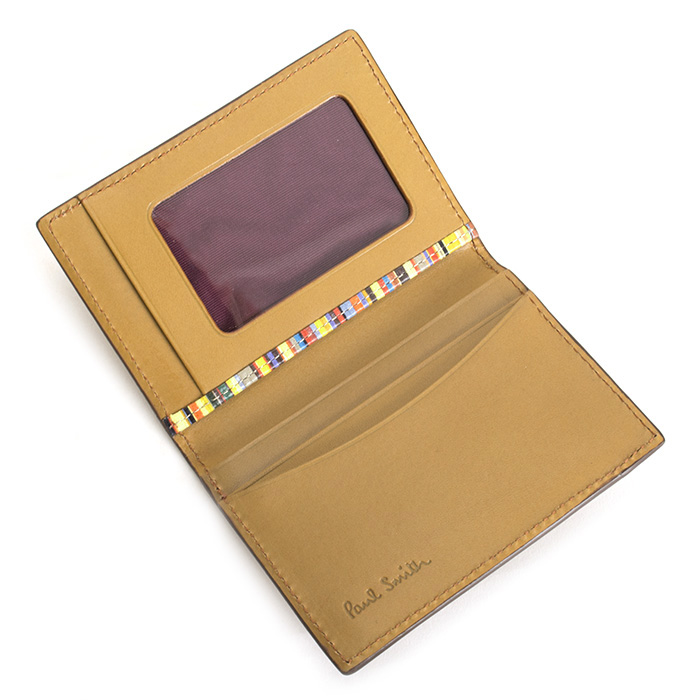 <クーポン配布中>ポールスミス パスケース 定期入れ カードケース キャメル Paul Smith psy901-75 メンズ 紳士