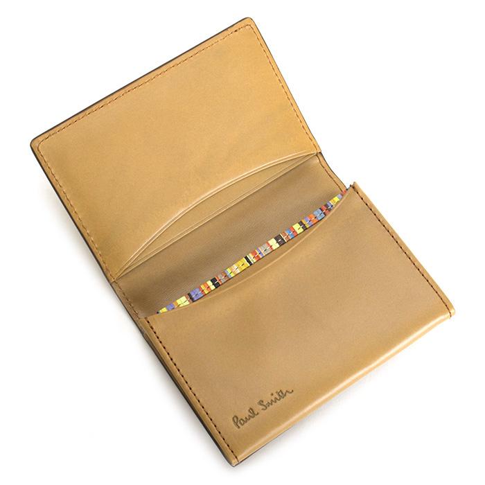 <クーポン配布中>ポールスミス 名刺入れ カードケース キャメル Paul Smith psy903-75 メンズ 紳士