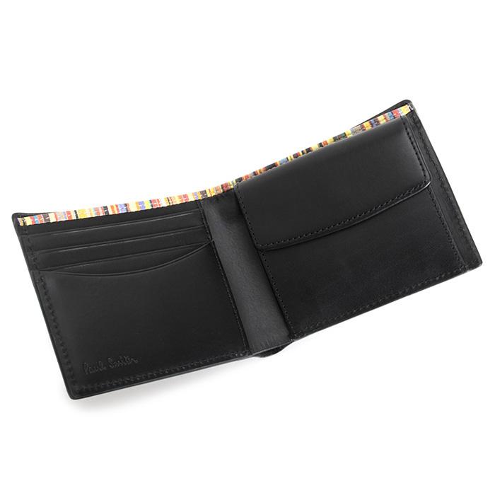 <クーポン配布中>ポールスミス 財布 二つ折り財布 黒(ブラック) Paul Smith psy906-10 メンズ 紳士