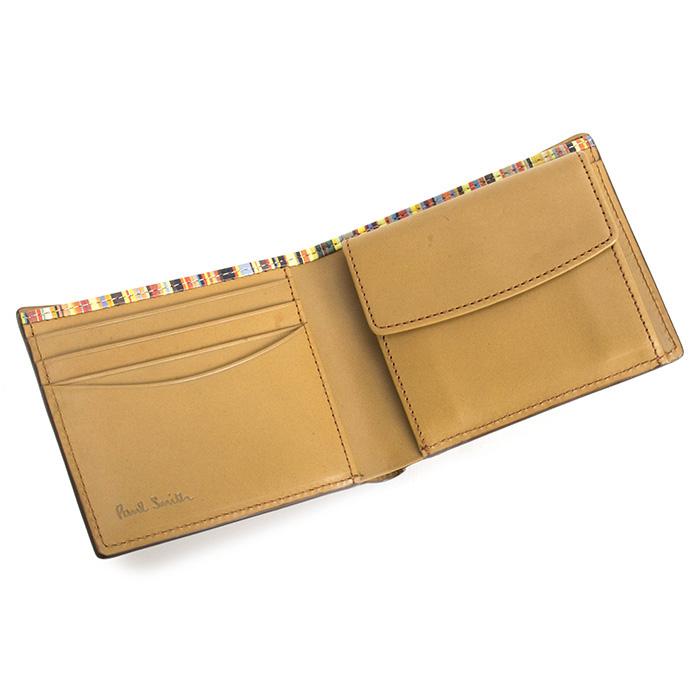 <クーポン配布中>ポールスミス 財布 二つ折り財布 Paul Smith キャメル psy906-75 メンズ 紳士