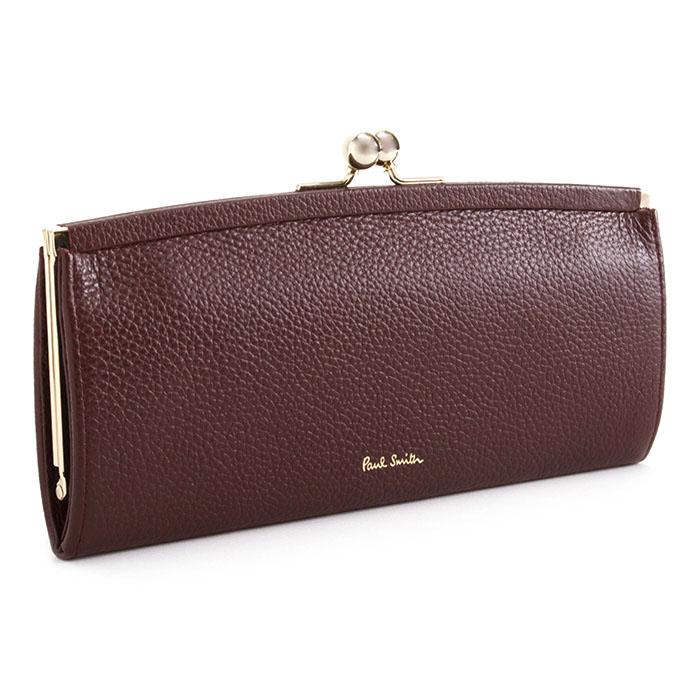 <クーポン配布中>ポールスミス 財布 長財布 がま口財布 ワイン Paul Smith pwd235-80 レディース 婦人