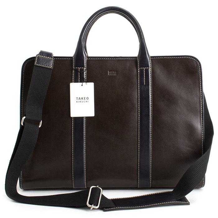 <クーポン配布中>タケオキクチ バッグ ビジネスバッグ 2wayバッグ 灰(グレー。濃茶っぽいグレーです。) TAKEOK IKUCHI 714502 メンズ 紳士