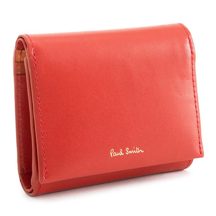 <クーポン配布中>ポールスミス 財布 三つ折り財布 赤(レッド) Paul Smith pwd164-20 レディース 婦人