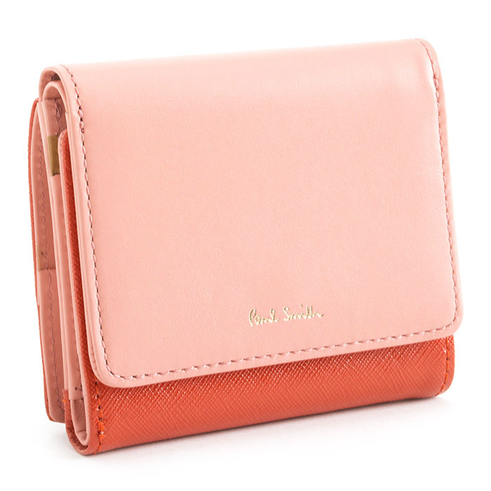 <クーポン配布中>ポールスミス 財布 二つ折り財布 オレンジ Paul Smith pwd345-42 レディース 婦人