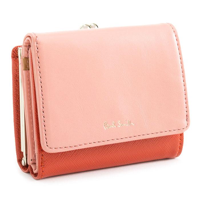 <クーポン配布中>ポールスミス 財布 二つ折り財布 がま口財布 オレンジ Paul Smith pwd346-42 レディース 婦人