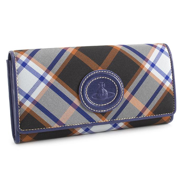 展示品箱なし ヴィヴィアンウエストウッド 財布 長財布 紺(ネイビー) Vivienne Westwood ACCESSORIES 3118s803 b