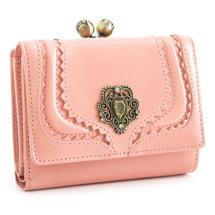 <クーポン配布中>アナスイ 財布 二つ折り財布 がま口財布 ピンク ANNA SUI 312532-32 b レディース 婦人