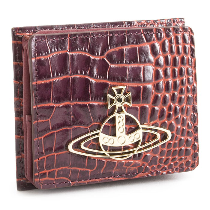 展示品箱なし ヴィヴィアンウエストウッド 財布 小銭入れ コインケース BOX型 ワイン Vivienne Westwood ACCESSORIES 3418s244 b