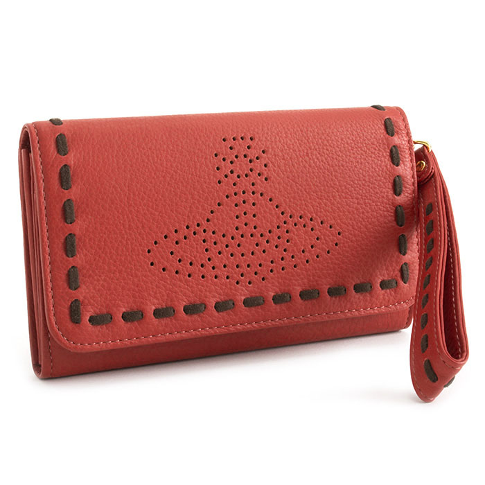 展示品箱なし ヴィヴィアンウエストウッド 財布 長財布 ストラップ付き 赤(レッド) Vivienne Westwood ACCESSORIES 3818r882
