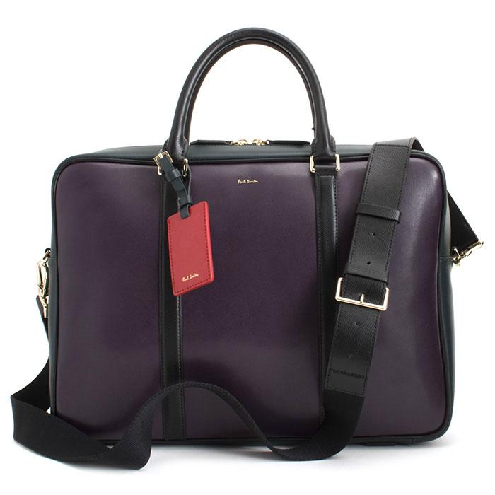 <クーポン配布中>ポールスミス バッグ ビジネスバッグ 2wayバッグ 紫(パープル) Paul Smith psn332-34 メンズ 紳士