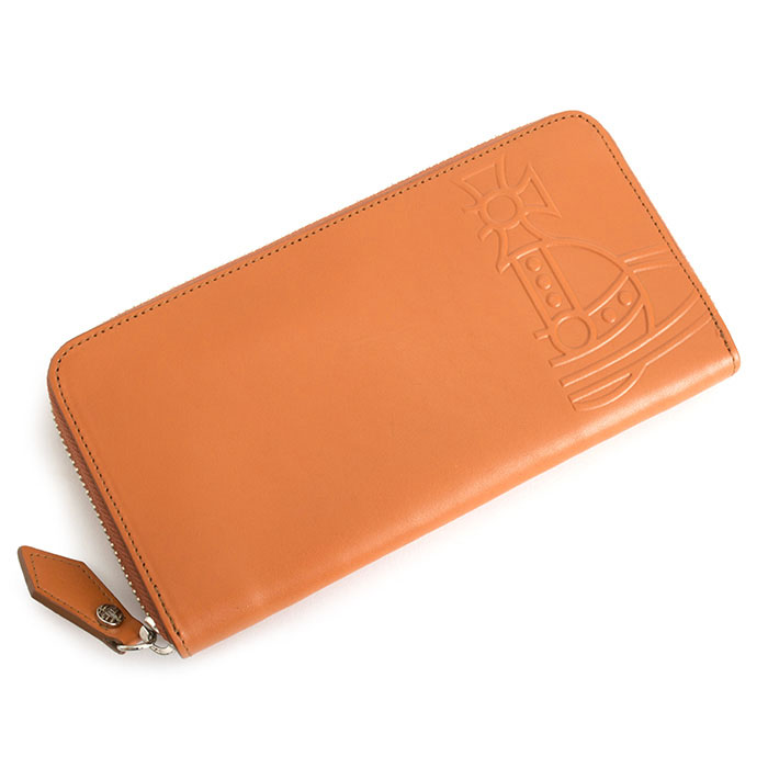 ヴィヴィアンウエストウッド 財布 長財布 ラウンドファスナー オレンジ Vivienne Westwood ACCESSORIES vwk046-42 b