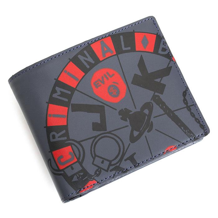 ヴィヴィアンウエストウッド 財布 二つ折り財布 紺(ネイビー。やや灰色がかったネイビーです。) Vivienne Westwood ACCESSORIES vwk170-30