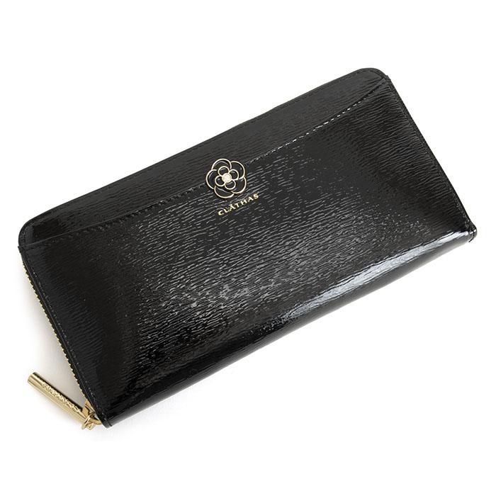 クレイサス 財布 長財布 ラウンドファスナー 黒(ブラック) CLATHAS 187411-10 レディース 婦人