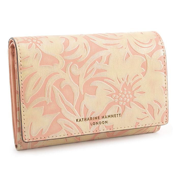 <クーポン配布中>キャサリンハムネット 財布 二つ折り財布 サーモンピンク KATHARINE HAMNETT LONDON khp432-25 レディース 婦人