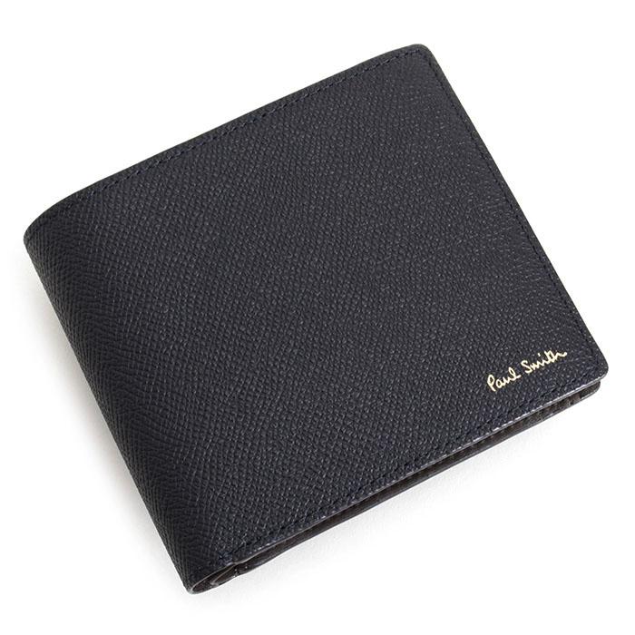 ポールスミス 財布 二つ折り財布 濃紺(ネイビー) Paul Smith psc414-31 メンズ 紳士