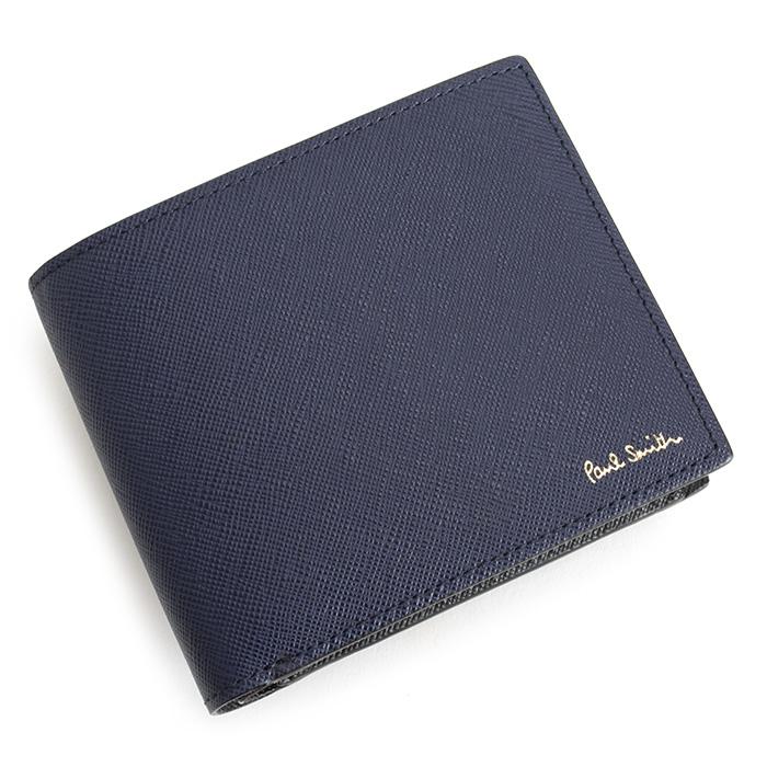 ポールスミス 財布 二つ折り財布 紺(ネイビー) Paul Smith psc533-30 メンズ 紳士