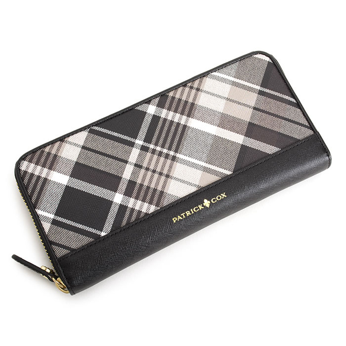 パトリックコックス 財布 長財布 ラウンドファスナー 茶(ブラウン) PATRICK COX pxlw6et3-22 レディース 婦人