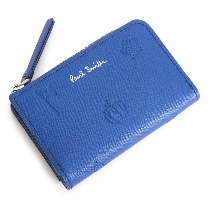 <クーポン配布中>ポールスミス キーケース L字ファスナー 青(ブルー) Paul Smith psc004-30 メンズ 紳士