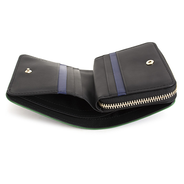メンズ 二つ折り財布 (ブルー) 展示品箱なし Paul Smith psc323-30 青 財布 紳士 ラウンドファスナー ポールスミス